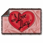 I Love Lucy 3D Logo Throw Blanket