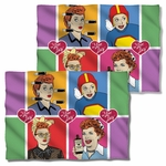 I Love Lucy Comic FB Pillow Case