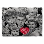 I Love Lucy Faces Pillow Case
