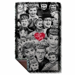 I Love Lucy Faces Throw Blanket