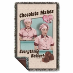 I Love Lucy Friends and Chocolate Throw Blanket