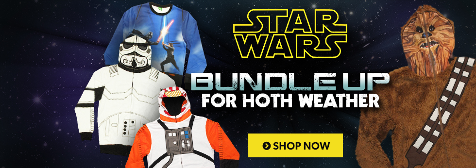 Bundle up for Hoth weather! Shop Star Wars outerwear.