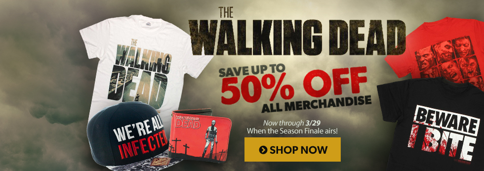 Up to 50% off Walking Dead items