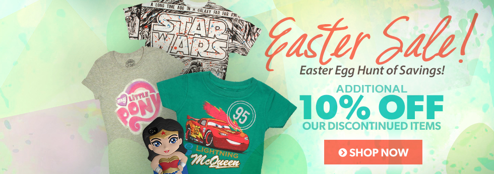 Easter Sale! Save an additional 10% off discontinued items.