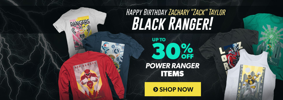 Happy birthday, Zack Taylor, the original Black Power Ranger! Up to 30% off Power Rangers items.