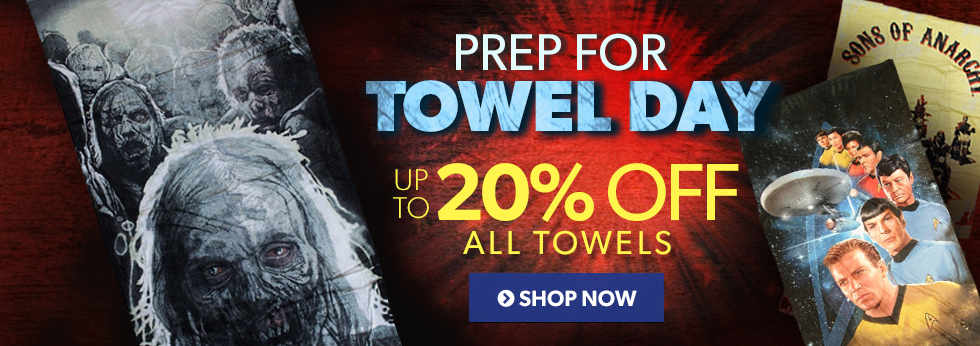 Don\'t forget your towel! Save up to 20% off all towels.