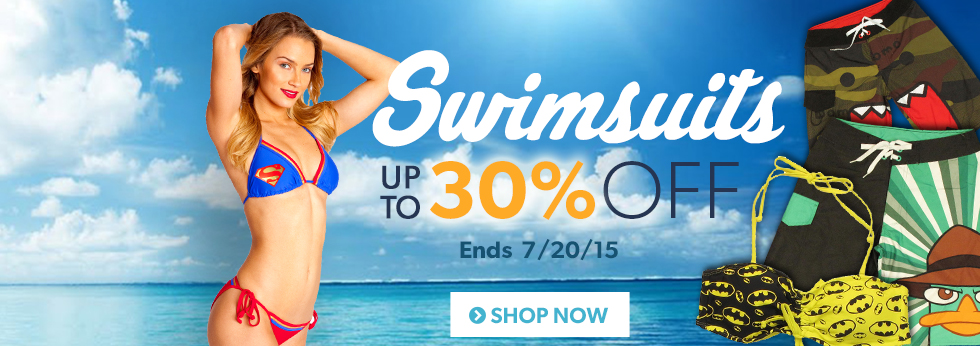 Swimsuits up to 30% off, Shop Now.
