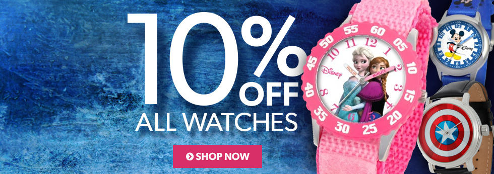 Watches: 10% off, Shop Now.