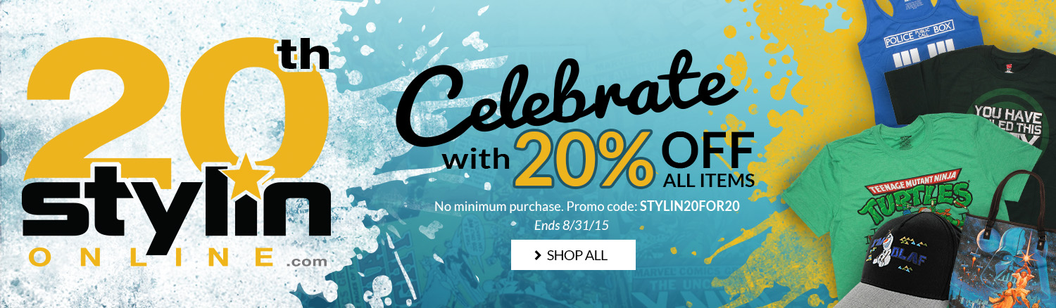 Stylin's 20th Anniversary, Promo code: STYLIN20FOR20