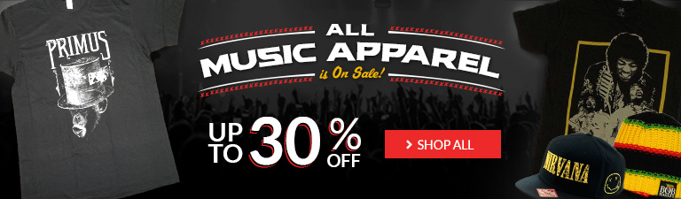 Up to 30% Off Music Apparel