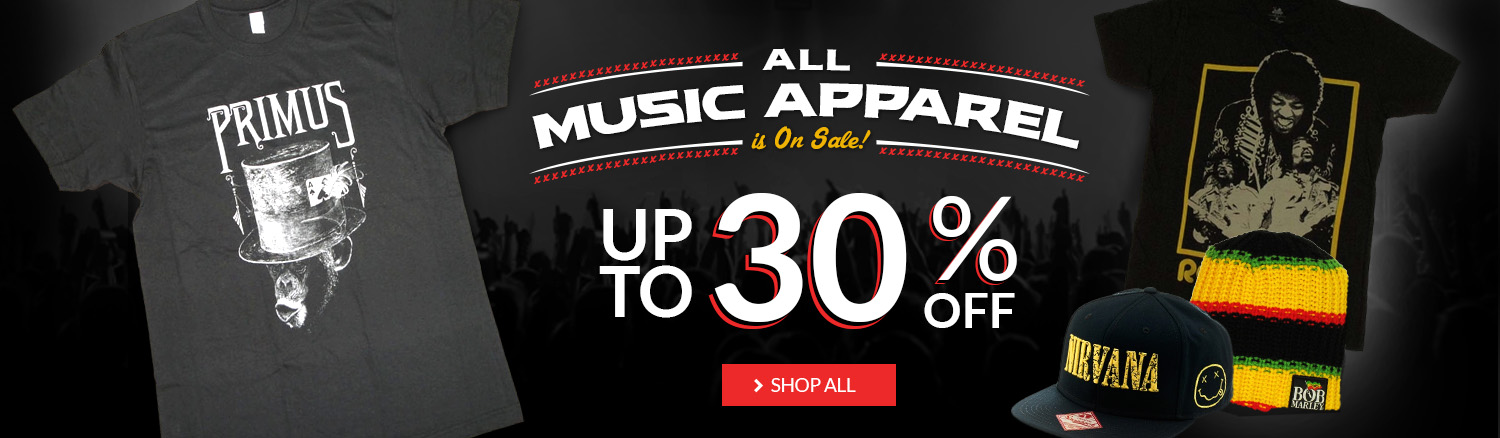 Music Blowout! Save up to 30% off music merchandise!