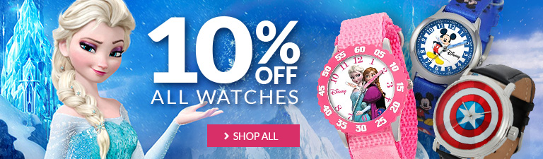 Check out our sale on watches! 10% off all watches.