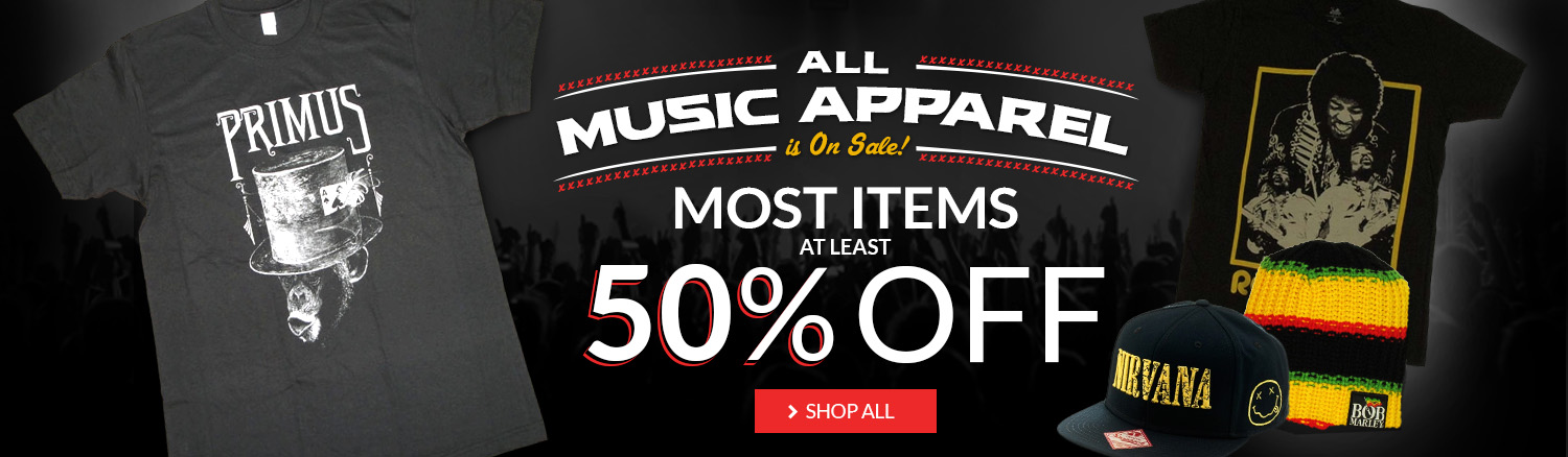 Music Blow-out! Most music items at least 50% off.