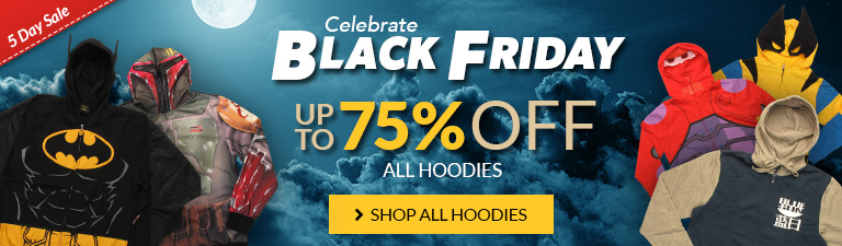Black Friday sale on hoodies, up to 75% off!