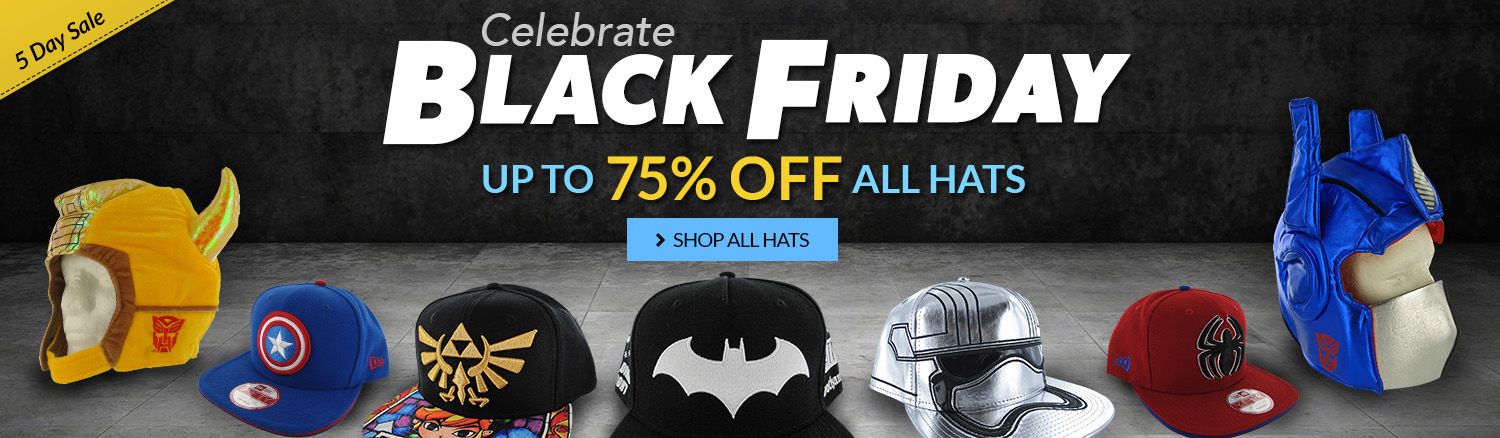 Black Friday sale on hats, up to 75% off!