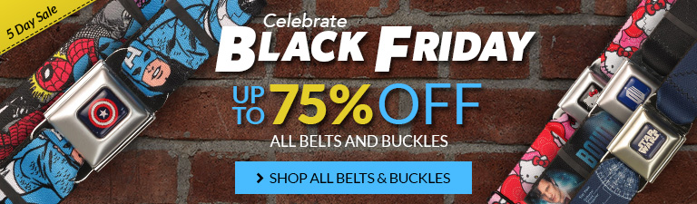 Black Friday sale on belts and buckles, up to 75% off!