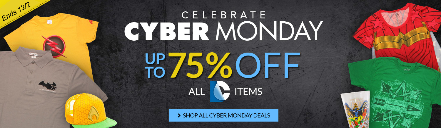 Black Friday sale on DC items, up to 75% off!