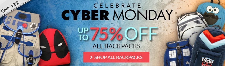 Cyber Monday sale on backpacks, up to 75% off!