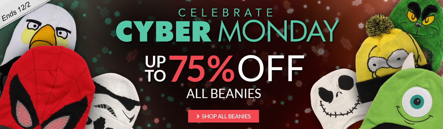 Cyber Monday sale on beanies, up to 75% off!