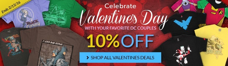 Celebrate Valentine's Day! 10% off these DC couples!