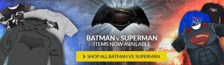 Batman v Superman: Dawn of Justice in theaters now. Shop Batman v Superman items now!