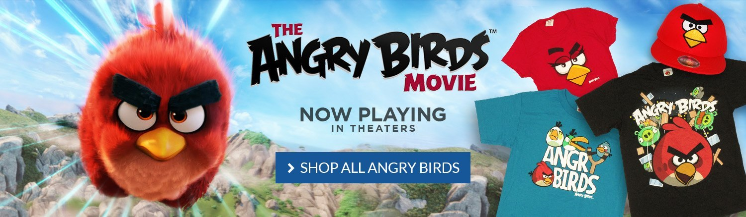 The Angry Birds movie is in theaters now! Shop all Angry Birds.