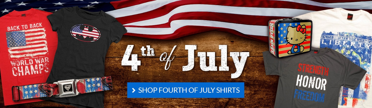 Celebrate the Fourth of July! Shop patriotic items.
