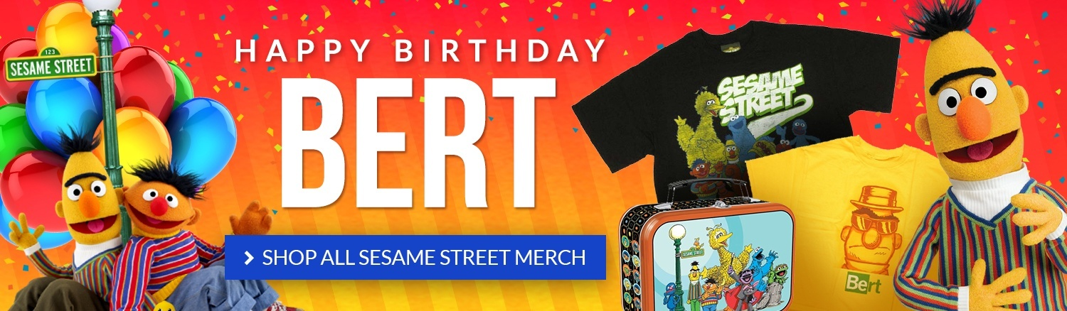 Happy birthday, Bert! Shop all Sesame Street merch.