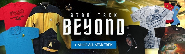 Star Trek Beyond is coming! Shop all Star Trek items.