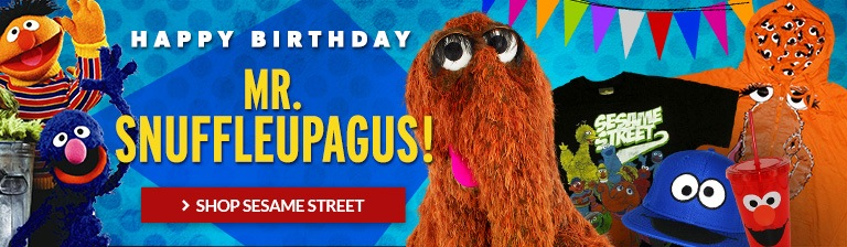 Happy birthday, Mr. Snuffleupagus! Shop all Sesame Street merch.