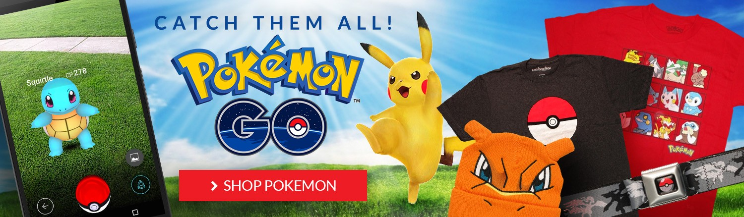 Catch them All! Pokemon GO! Shop all Pokemon items.