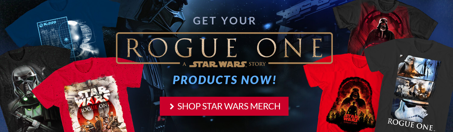Rogue One: A Star Wars Movie! Products are now in stock.
