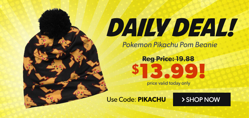 Daily Deal: Pokemon Pikachu All Over Sublimated Pom Beanie