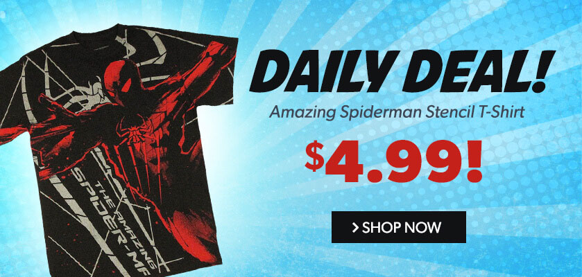 Daily Deal: Amazing Spiderman Stencil T Shirt