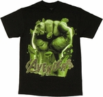 Incredible Hulk Avengers Fist T Shirt