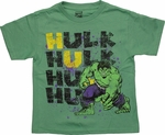 Incredible Hulk Name Stack Juvenile T Shirt