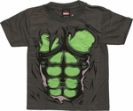 Incredible Hulk Rip Through Green Juvenile T Shirt