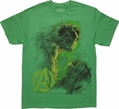 Incredible Hulk Ultron Avengers Sketch T-Shirt