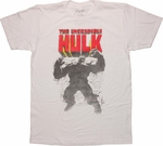 Incredible Hulk Wall Stance White T-Shirt Sheer