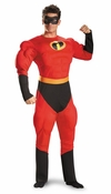 Incredibles Mr Incredible Deluxe Adult Muscle Costume