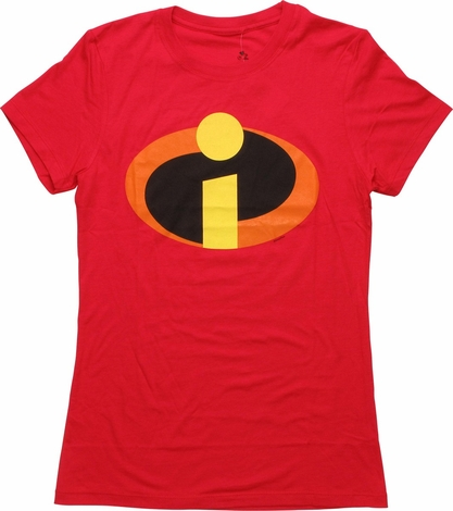 Incredibles Symbol Mighty Fine Juniors T-Shirt