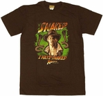 Indiana Jones Snakes T Shirt Sheer