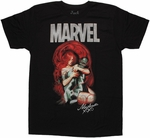 Inhumans Medusa Black Bolt Suit T Shirt Sheer
