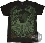 Ink Syndicate Green Skull T-Shirt Sheer