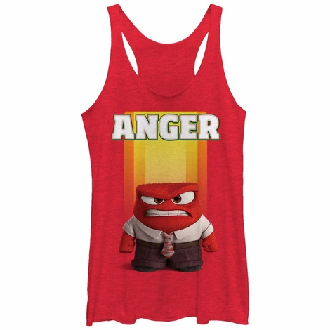 Inside Out Only Anger Tank Top Juniors T-Shirt