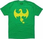 Iron Fist Dragon Logo T Shirt Sheer