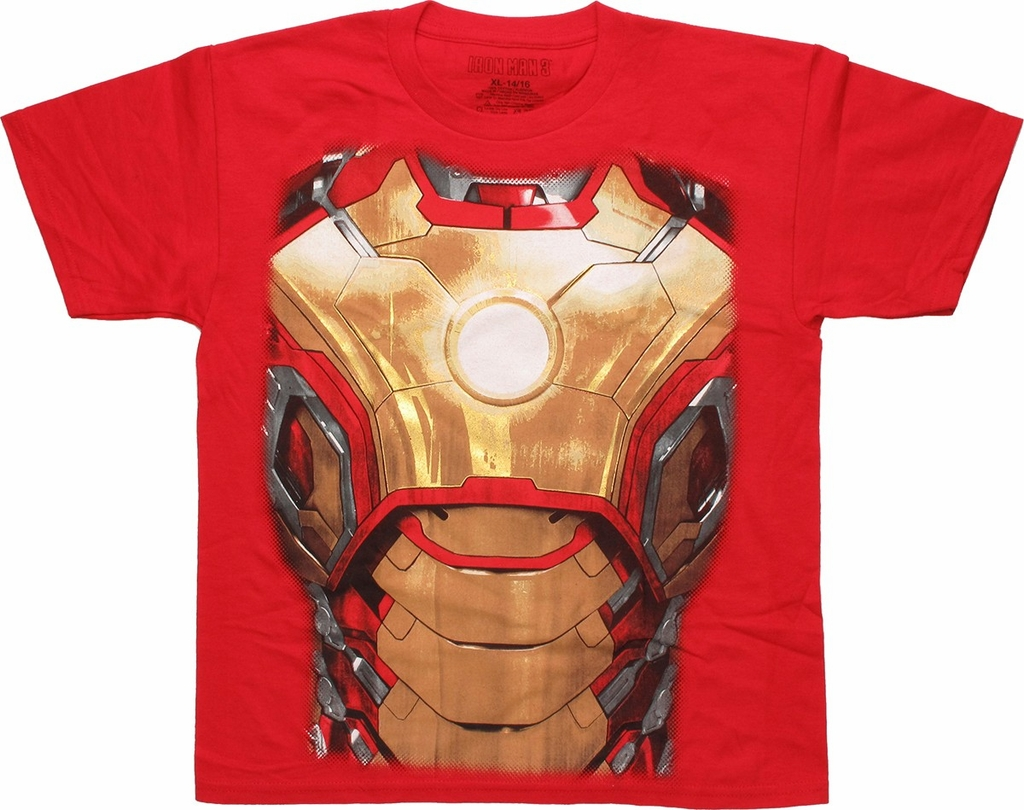 Iron Man 3 Detailed Torso Youth T Shirt