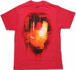 Iron Man 3 Face T Shirt Sheer