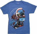 Iron Man 3 Patriot Profile T Shirt Sheer