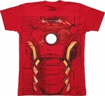Iron Man Avengers Age Ultron Suit T-Shirt Sheer